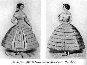 Enaguas o faldas interiores 'crinolizadas' para dar volumen