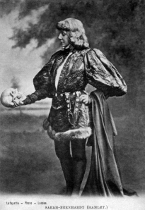 "Sarah Bernhardt en ""Hamlet"""