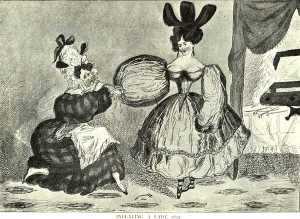 1829. Inflating a lady