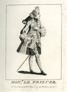 1771 A French hairdresser with fine coat and small-sword