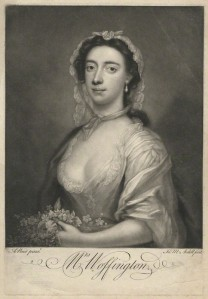 NPG D36315; Peg Woffington by James Macardell, after  Arthur Pond