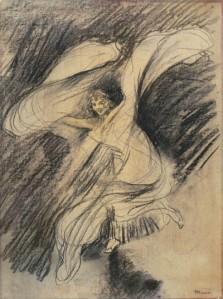 Boceto deToulouse Lautrec sobre Löie Fuller