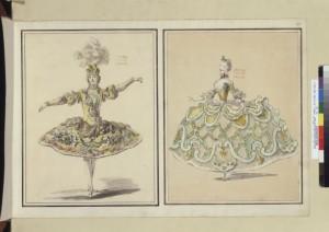 Louis -René Boquet. Bocetos de vestuario para ballet