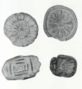 Botones de la antiguedad. Cerámica y piedra