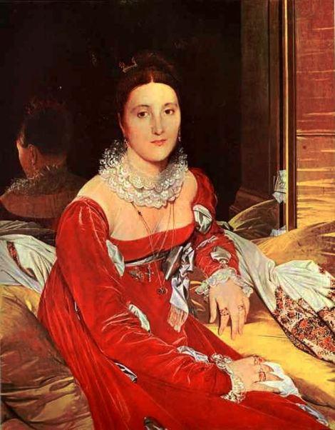 1814. Ingres. Mme. De Senonnes. Se observan, además, las mangas con cuchilladas