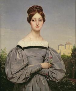 1833- Horace Vernet, Retrato de Louise Vernet. Museo del Louvre, París