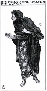 """Alfred Roller. Diseño para """"La Mujer sin sombra"""""""