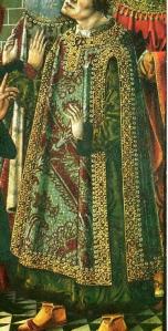 1530. La epifanía, García del Barco o Maestro de Ávila, Tríptico de la Natividad,  (detalle)