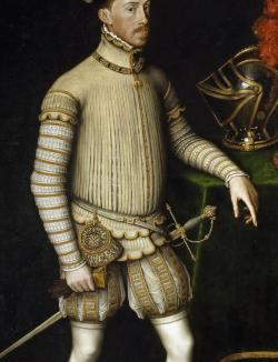 1550. Antonio Moro. Maximiliano II (detalle).