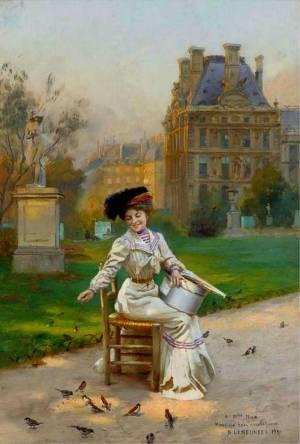"""Basile Lemeunier: """"En las calles de París"""", 1898"""